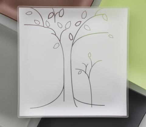 """Riverside Design Group   Trees Square Tray 13"""" $79.95"""