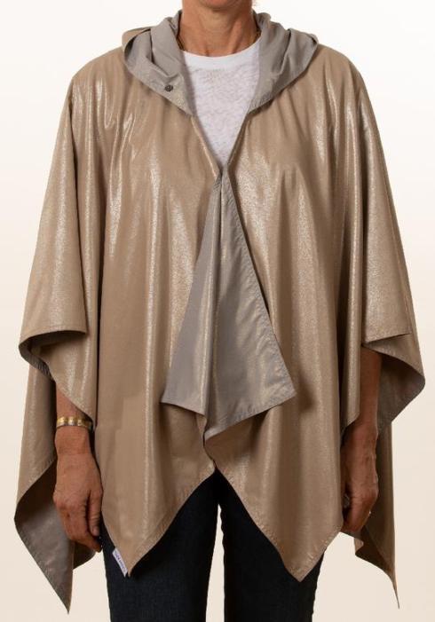 $65.00 Rainraps-Camel Silver Metallic & Light Gray Gold Metallic