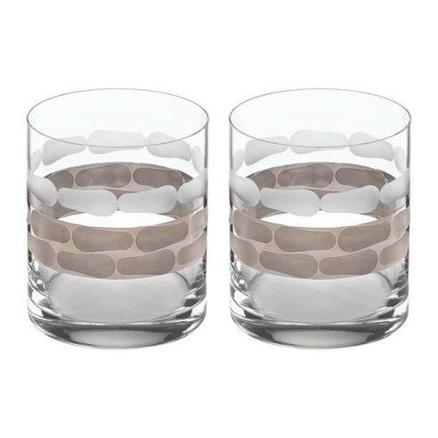 $85.00 Truro Platinum Double Old Fashioned-Set of 2