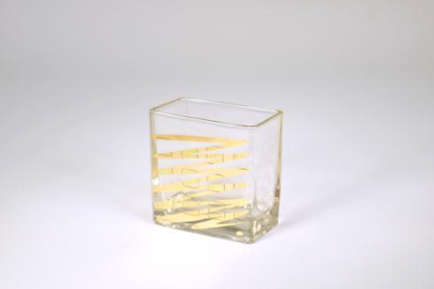 "$33.95 Rectangular Vase 4"" ZigZag"
