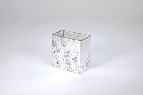 "$33.95 Rectangular Vase 4"" Silver Wabi"