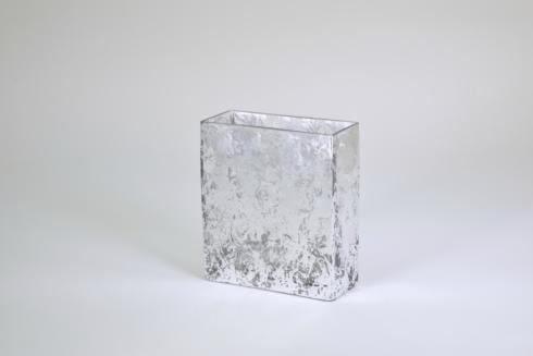 "$48.95 Rectangular Vase 6"" Silver Wabi"