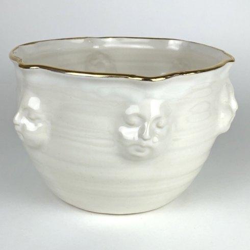 $150.00 Face Bowl Gold Edge-Large