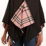 $65.00 Rainrap-Black & Pink Plaid