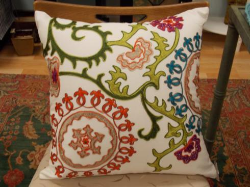 Frametech Exclusives   Mai Na Embroidered Pillow $49.95