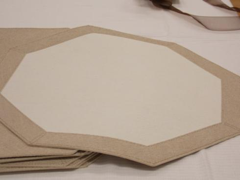 $110 Oatmeal Octagon Placemats