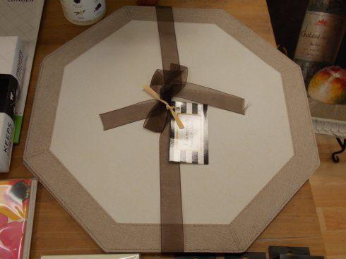 $110.00 Oatmeal Octagon Placemats