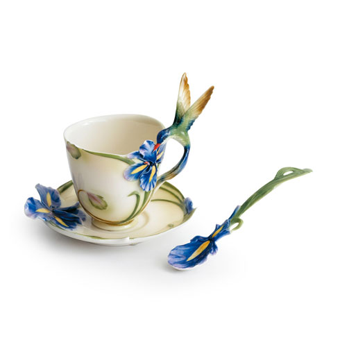 Cup, Saucer, Spoon Set, Long Tail