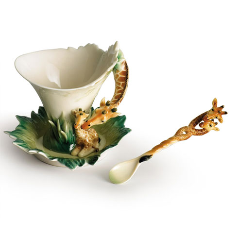 $157.00 Cup, Saucer, Spoon Set
