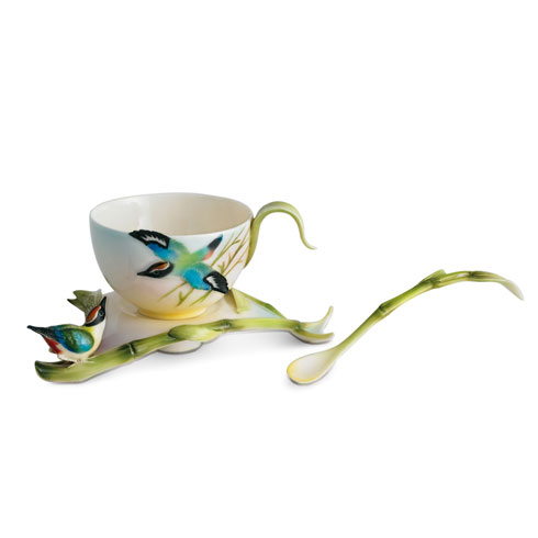 $143.00 Cup, Saucer, Spoon Set
