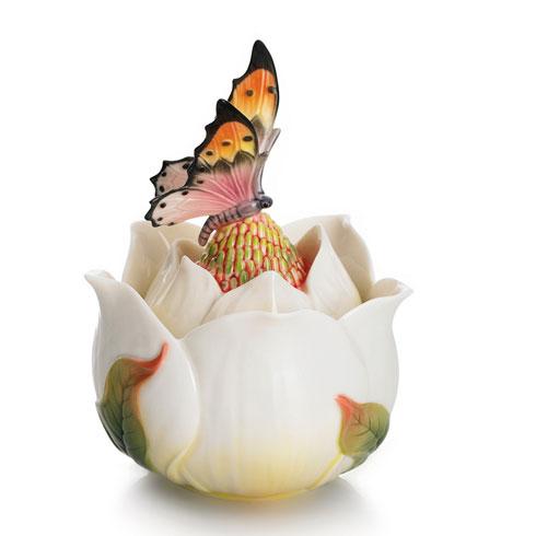 $190.00 Box, Magnolia lidded