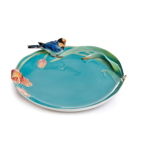 $138.00 Plate, Song Bird swallow