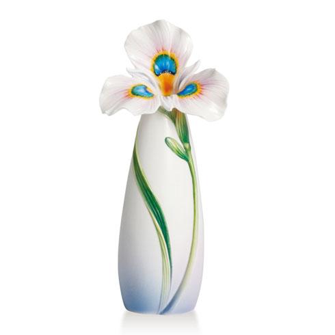 Vase, Peacock iris small