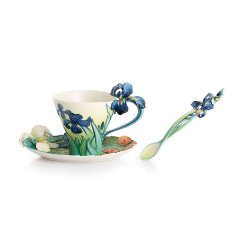 Cup, Saucer, Spoon Set, Iris