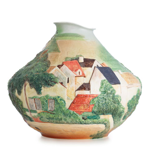 Vase, Landscape at Auvers