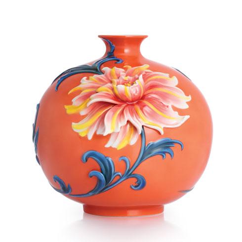 Vase, Exotic peony