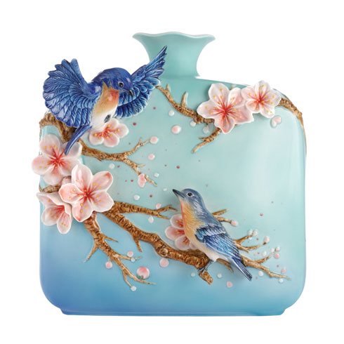 $844.00 Vase, Bluebird and Cherry Blossom