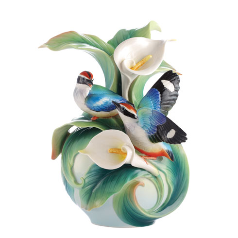$636.00 Vase, Blue-Winged Pitta
