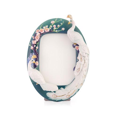 $231.00 Photo Frame, White Peacock