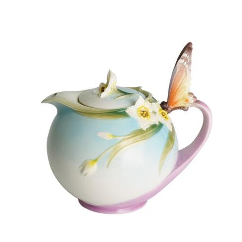 Teapot, butterfly