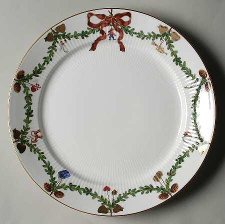 $80.00 Star Fluted Christmas Dinner Plate