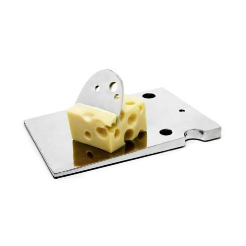 Swiss cheese board and knife
