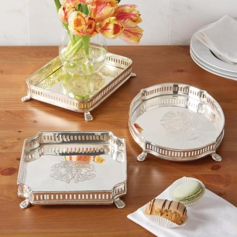 Fischer Evans Exclusives   Oval silver plated tray $75.00