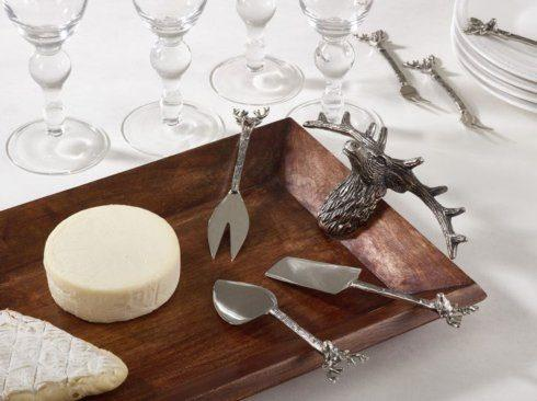 $85.00 Wooden tray with reindeer handles
