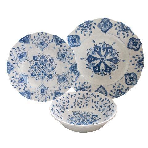 $14.00 Moraccan Blue Salad Plate
