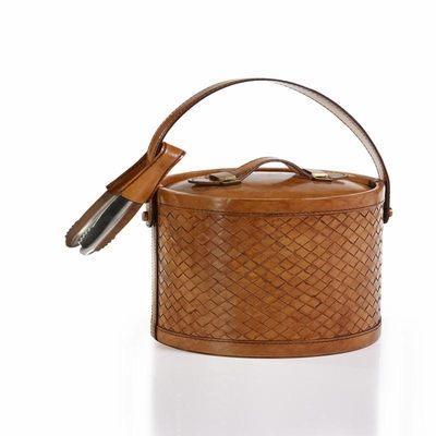 $160.00 Weave design leather ice bucket