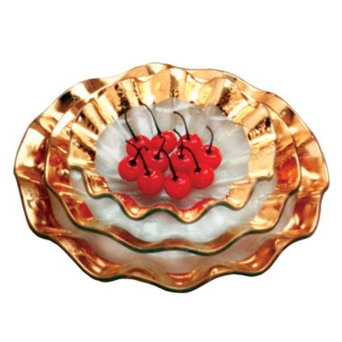 $67.00 Gold ruffle dessert bowl