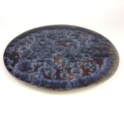 Michael Wainwright   Borealis Frost Blue Lazy Susan $225.00
