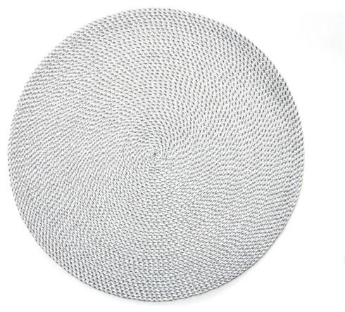 """$17.00 Silver/white 15"""" placemat"""