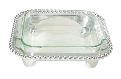 $120.00 Pearled square casserole w/ 2qt Pyrex