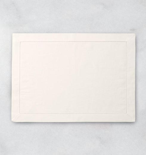 SFERRA   Sferra Classico Hemstitched Ecru placemat s/4 Linen $83.00