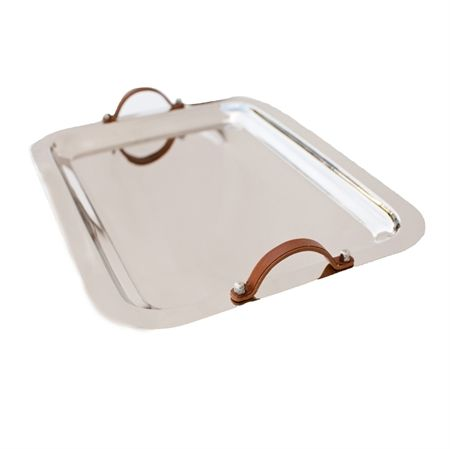 $120.00 Tray w/ leather handles