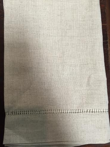 Fischer Evans Exclusives   Hemstitched mixed linen Napkin $9.00