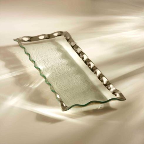 $200.00 Ruffle rectangular tray