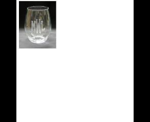 $15.00 Stemless Wine Monogrammed
