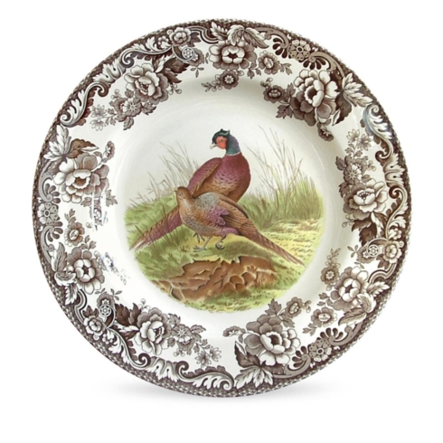Spode  Woodland North American fish Dinner Plate $45.00