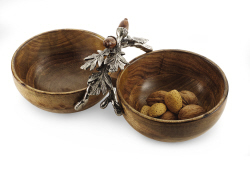$49.00 Acorn Double Dip Bowl