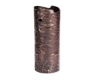 "10"" Botanical Bark Vase Copper"