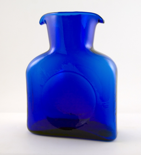 $53.00 Cobalt Blenko Carafe