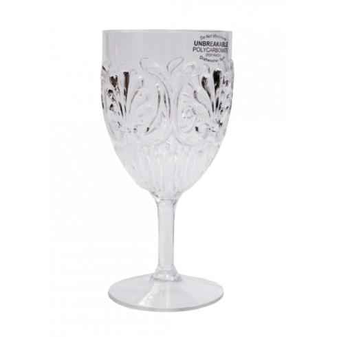 Le Cadeaux  Fleur Clear Wine Goblet $9.00