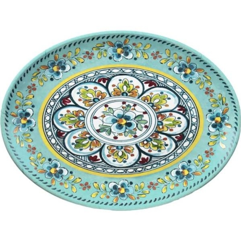 Madrid turquoise platter collection with 1 products