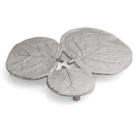 $70.00 Botanical leaf trivet, nickel