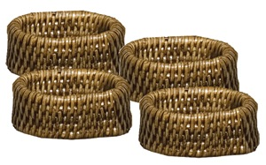 Rattan napkin ring collection with 1 products