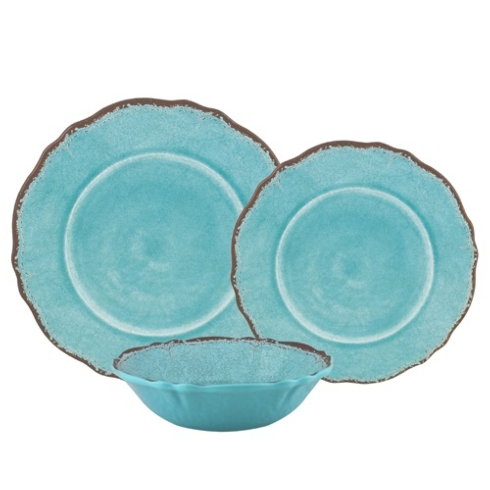 Antigua turquoise dinner plate