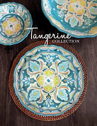 Tangerine salad plate collection with 1 products