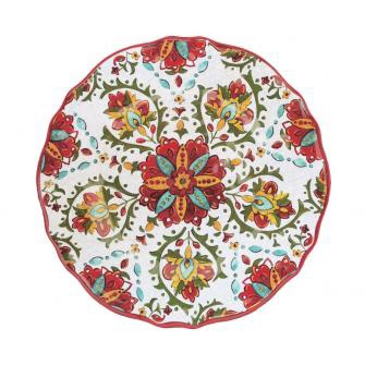 Allegra red dinner plate collection with 1 products